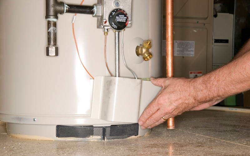 performing standard water heater maintenance
